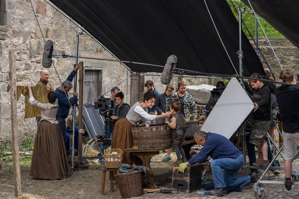 Caitriona Balfe filming a scene in season one.