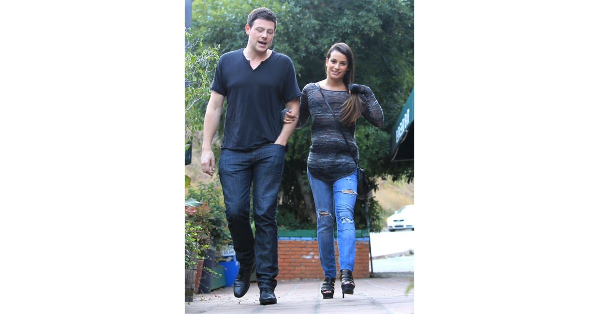 lea michele and cory monteith dating rumors Naya rivera revealed juicy tidbits about glee co-star lea michele,  with lea  michele, who was rumored to be the fox hit's biggest diva  once, however,  monteith started dating michele, rivera noticed a change in him.