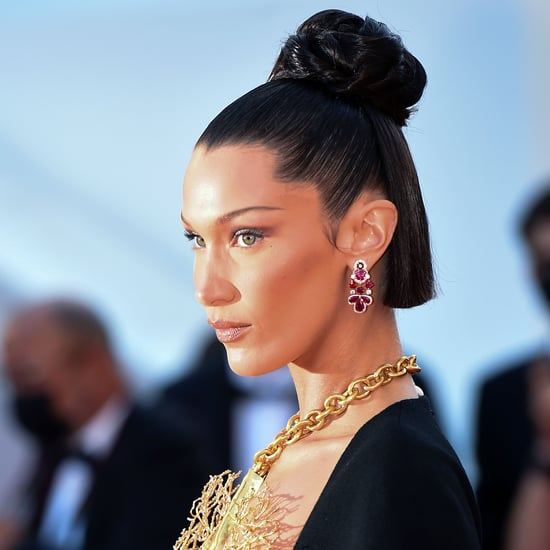 See Photos of Bella Hadid's Intricate Bun at Cannes