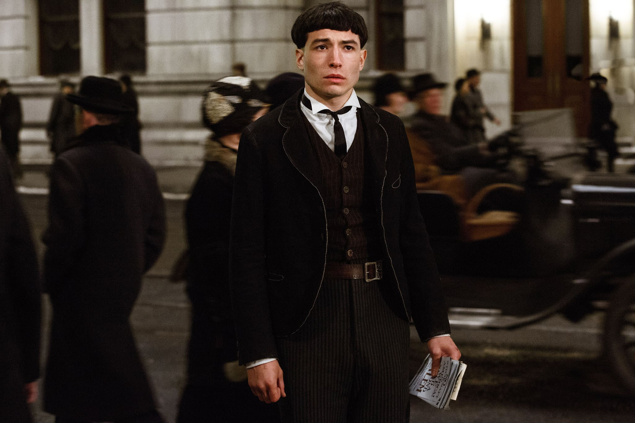 FANTASTIC BEASTS AND WHERE TO FIND THEM, Ezra Miller, 2016. ph: Jaap Buitendijk.  Warner Bros. / courtesy Everett Collection