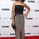 She Rocked a Crop Top at the 2015 Glamour Women of the Year Awards
