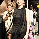 Anne Hathaway stepped out in the Big Apple.