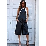 Ashley Madekwe shows us how to rock leather overalls that crop and flare, rather than cinch and extend to the floor.
