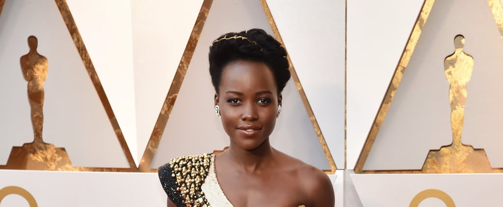 Lupita Nyong'o Basically Turned Herself Into an Oscar With Her Gold Beauty Look