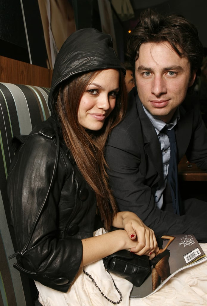 Rachel Bilson and Zach Braff cuddled close during an Entertainment Weekly bash in 2006.