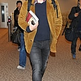 James Franco smiled as he made his way through the airport in Tokyo.