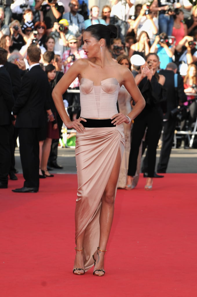 Adriana Lima struck a pose on the red carpet on Sunday.
