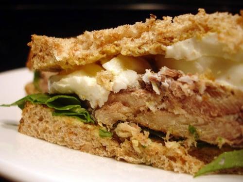 Sardine and Arugula Sandwich