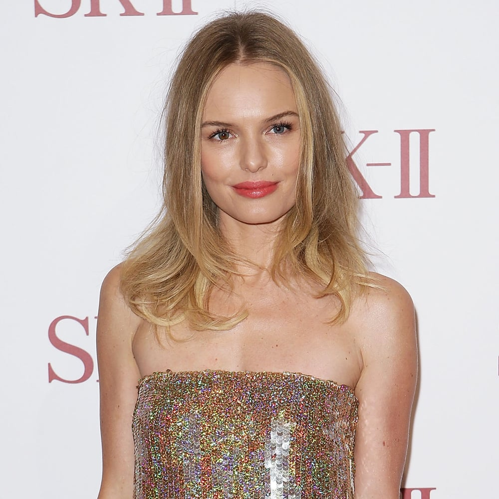 When one of our all-time style and beauty faves comes to town, you know we're going to be closely documenting every pretty step she takes. And when Kate Bosworth stepped out in glittering Stella McCartney at David Jones in Sydney last night, we couldn't have been more impressed with her subtle and sexy hair and makeup. Here to promote SK-II, Kate, who was recently made the new face of the high-end brand, stepped out on a chilly Sydney night looking like she was fresh off a tropical island — all glowing skin, sexy, tousled hair and a pop of punchy pink-coral on her lips — courtesy of makeup artist Liz Kelsh and hair stylist Renya Xydis.Click through the gallery to see all the angles and close-ups of Kate's look!