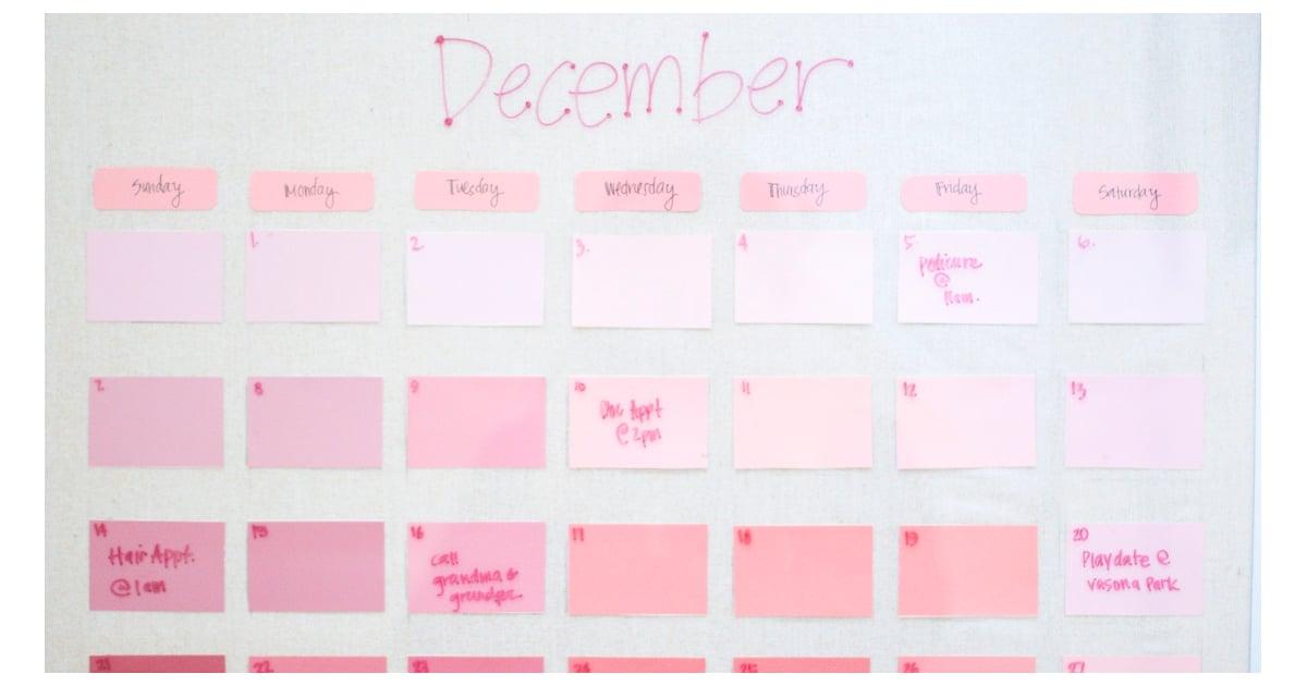 Diy Calendar Australia : Diy reusable paint chip calendar popsugar smart living