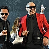 Marc Anthony performed with Pitbull.