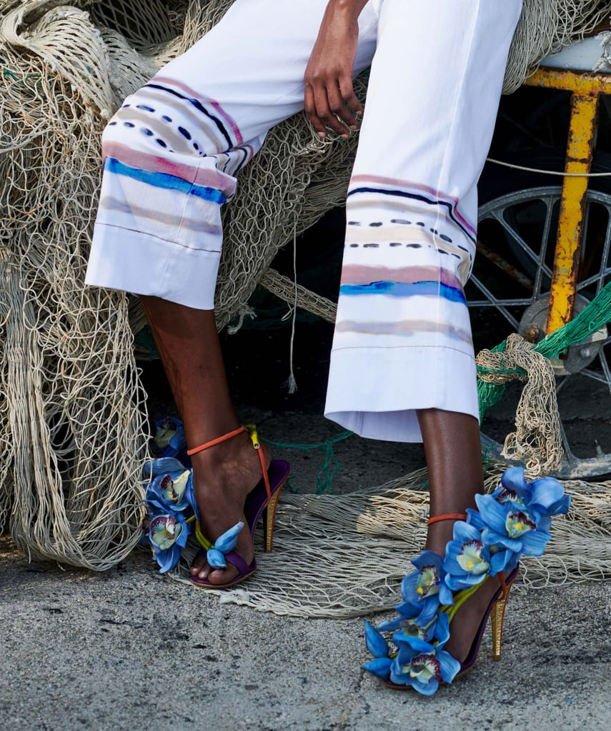 Sandals from the Stella Jean Spring/Summer 2021 collection.