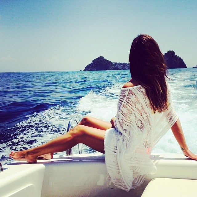 Lea's toned stems were front and center in this gorgeous picture of her view in Italy.  Source: Instagram user msleamichele
