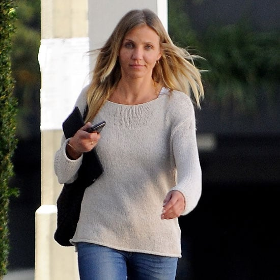 Pictures of Cameron Diaz Carrying Her iPad in LA