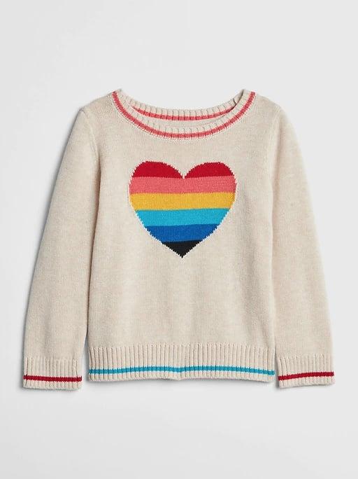 Rainbow Heart Sweater