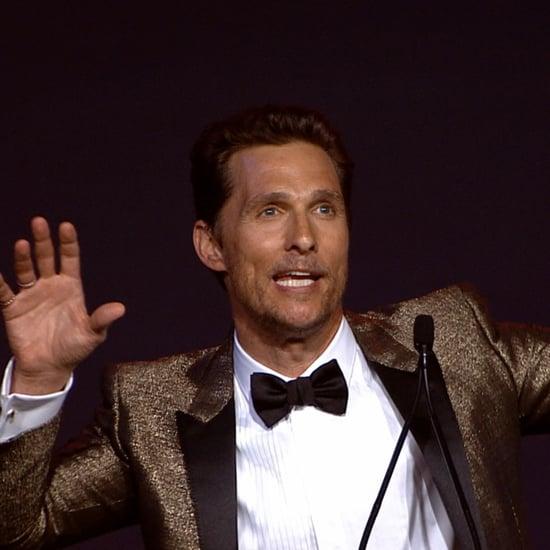 Matthew McConaughey Speech at Palm Springs Film Fest | Video