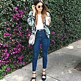 Paired With a Printed Bomber Jacket and Jeans