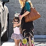 Sarah Michelle Gellar wore a long floral dress as she took Charlotte Prinze to ballet class in Studio City.