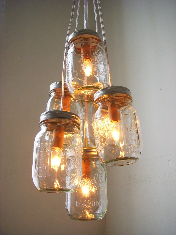mason jar lighting ideas mason jar chandelier adore diy hanging mason