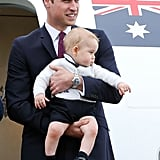 Prince George Traveling With Dad