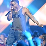 Nelly performed on stage.