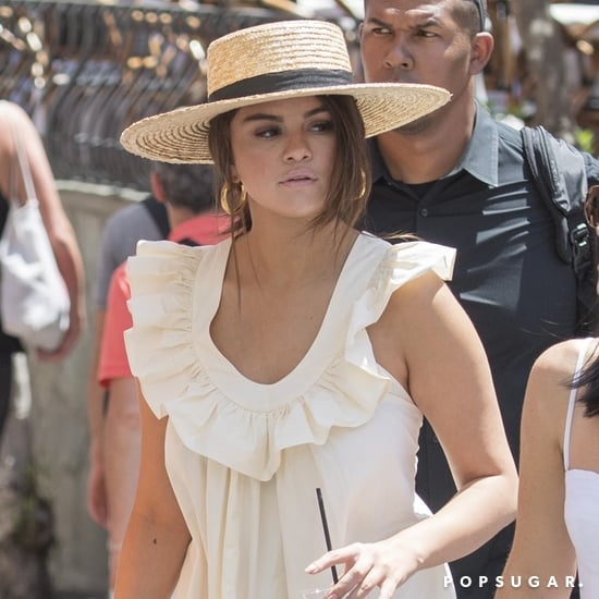 Selena Gomez Wears Maxi Dress and Sandals in Italy