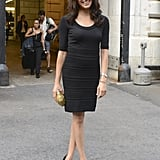 Meghan kept things simple when she attended the Marchesa fashion show in September 2013.