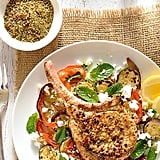 Lemon-Pepper Pork Chops With Grilled Vegetables and Couscous