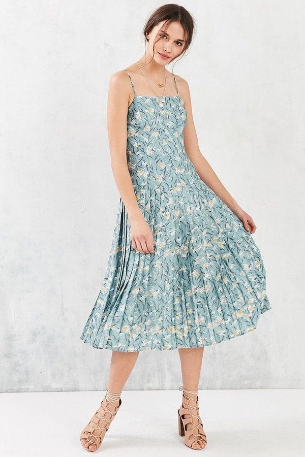 Kimchi Blue Marguerite Pleated Drop-Waist Midi Dress ($89 ...