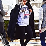 Someone Took a Photo of Rihanna in Her Hillary Gear and Turned That Into a Shirt
