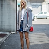For the menswear-inspired take, slip on an oversize structured blazer.