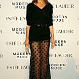 Carine Roitfeld played peek-a-boo at Estée Lauder's Modern Muse launch.