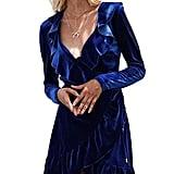 Glamaker Velvet Wrap Dress