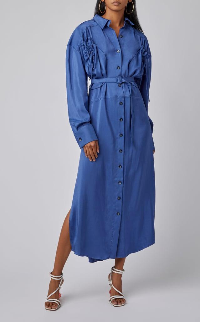 Jacquemus La Robe Valmy Belted Cotton-Poplin Maxi Dress