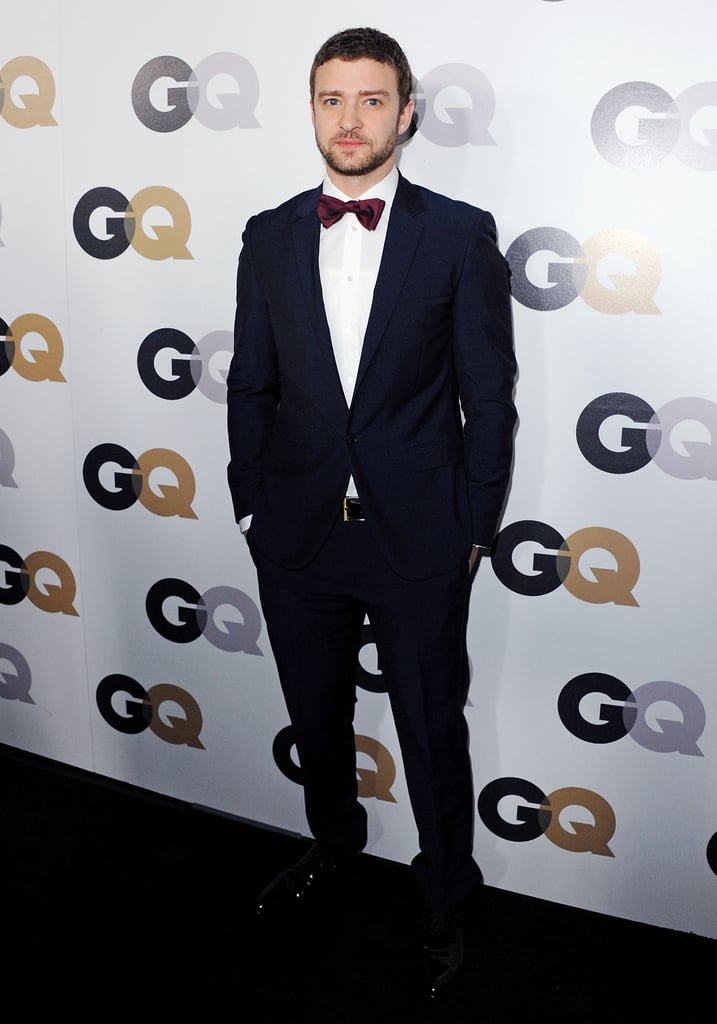 A burgundy tie made this classic Calvin Klein Collection look anything but ordinary at 2011's GQ Men of the Year Awards.
