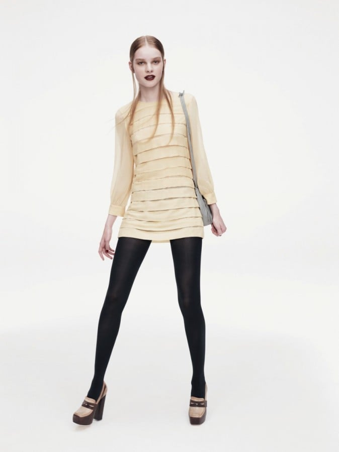 Go for a '60s look in a thigh skimming mini dress.