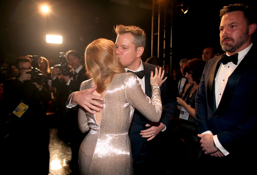 Amy Adams met up with Matt Damon and Ben Affleck.