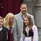 Princess Mette-Marit of Norway With Prince Sverre Magnus and Princess Ingrid Alexandra