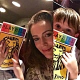 """Alyssa Milano took Milo to see The Lion King, a """"life changing moment."""""""