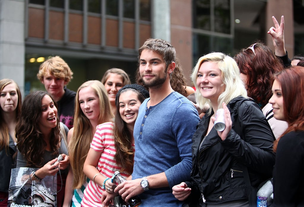 Chace Crawford Pleases Hundreds of Fans at the Diet Coke Photo Booth in Sydney