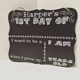 Personalized First-Day-of-School Chalkboard