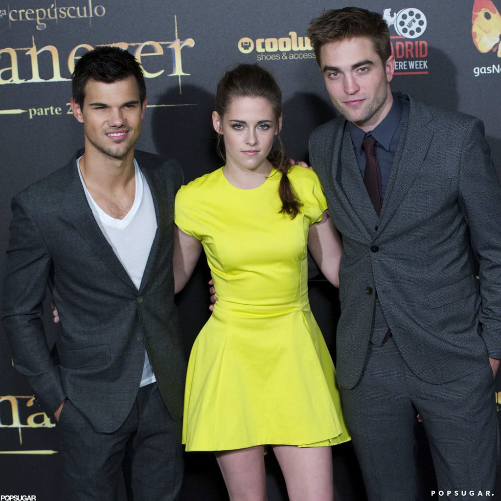 Kristen Stewart wore neon Dior in Madrid.