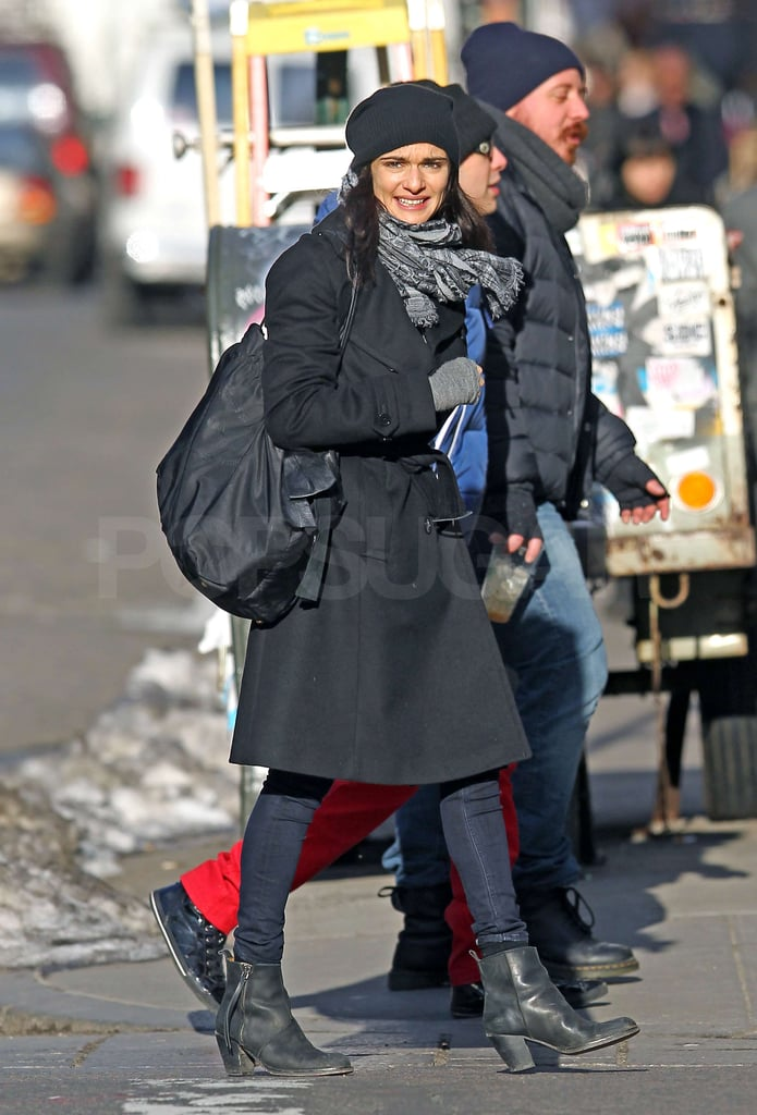 Rachel Weisz bundled up warm as she took a stroll in NYC yesterday. She spent the previous day with son Henry and ex Darren Aronofsky. When the couple announced their split last year, their rep said they were committed to raising their son together in New York. Rachel's back in the Big Apple following her time in the UK over Christmas with Daniel Craig. He's now in LA working on The Girl With the Dragon Tattoo. Rachel recently wrapped filming The Deep Blue Sea, and although there's no release date yet, the first still has been released.