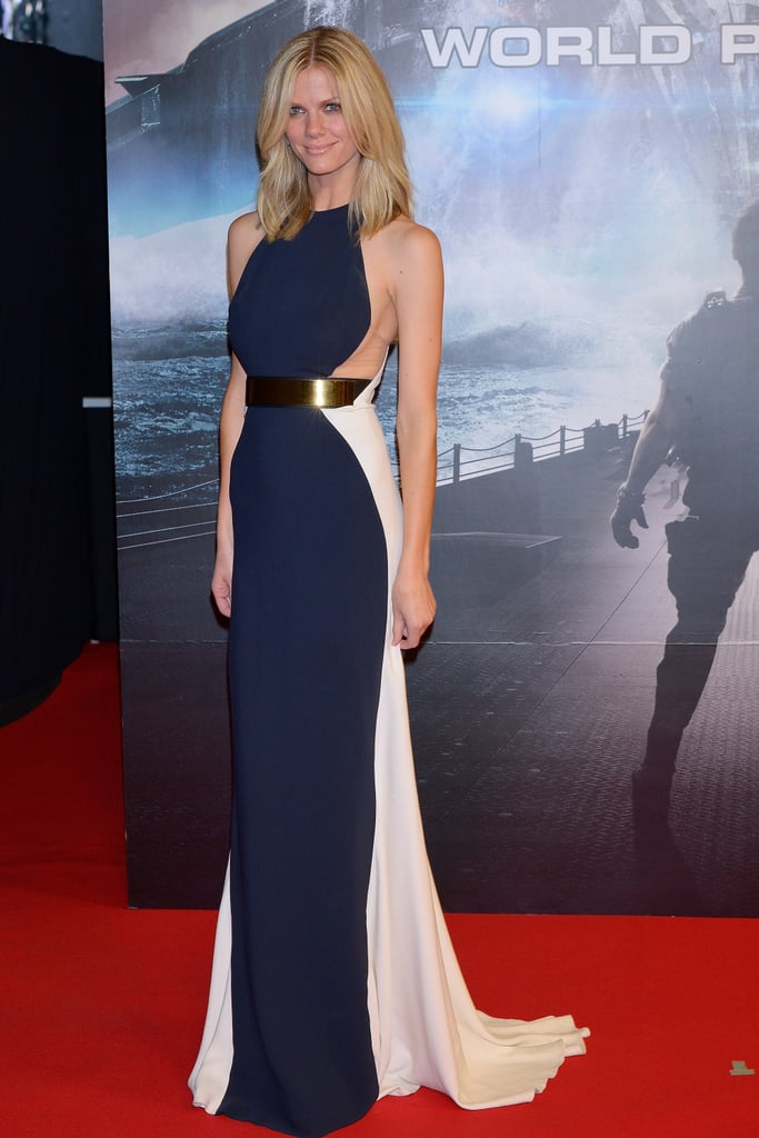 Brooklyn Decker in Navy Stella McCartney at 2012 Battleship Japan Premiere
