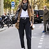 Style Your Leopard-Print Coat With: A Tee, Jeans, and Combat Boots