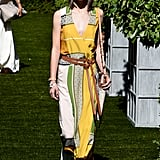 We think that Michelle would turn heads in this belted Tory Burch number.