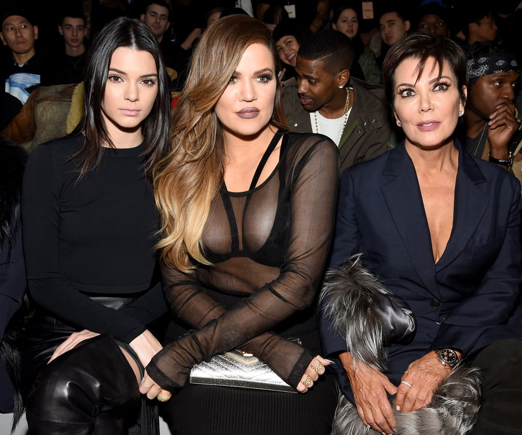 Kendall Jenner, Khloé Kardashian, and Kris Jenner at NYFW