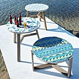 2-Tone Geo Mosaic Tiled Outdoor Bistro Table