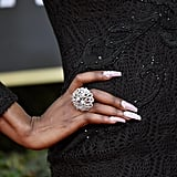 Lala Milan's Crystal Nails at the 2020 Golden Globes
