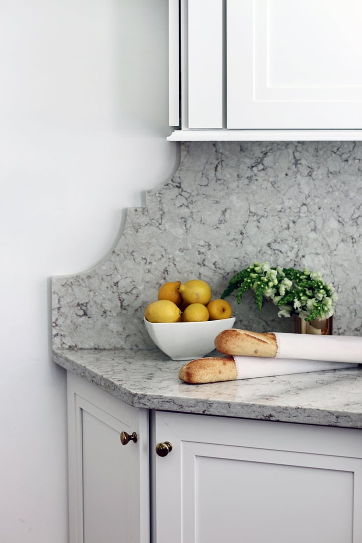 We Love The Edges Of The Stone Backsplash Small Kitchen